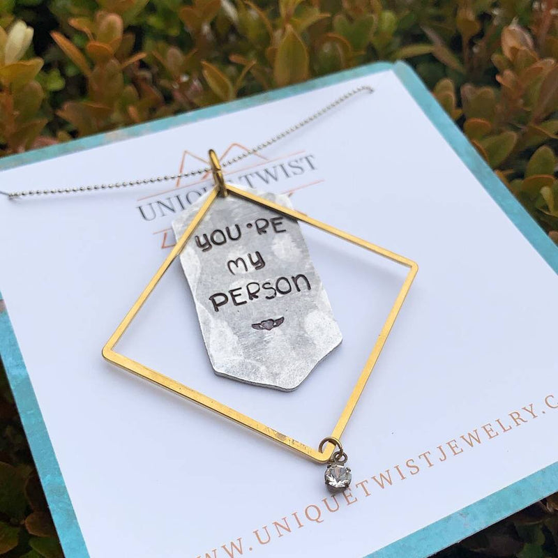 You Are My Person Necklace - HeartsEase Clothing