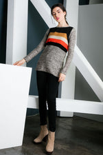 Contrast Textured Sweater - HeartsEase Clothing