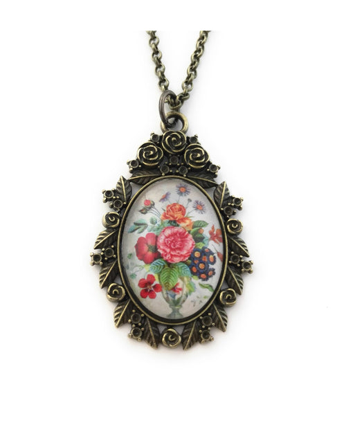 Colorful Floral Bouquet Necklace - HeartsEase Clothing