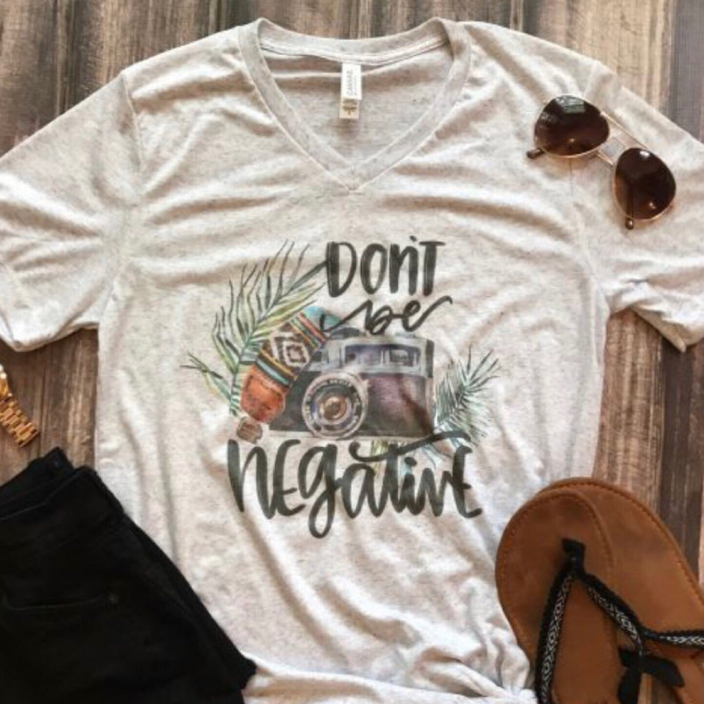 Brooks - Don't Be Negative Graphic Tee **LAST ONE **