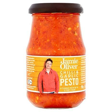 "Jamie Oliver""Ultimate Chilli & Garlic Pesto"" 190g - Gustomo Shop"