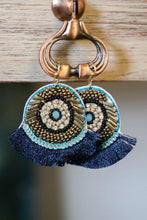 Load image into Gallery viewer, Ibiza Beaded Fringe Earrings-Earrings-Hazel & Indigo