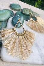 Load image into Gallery viewer, Lanai Fringe Tassel Statement Earrings-Earrings-Hazel & Indigo