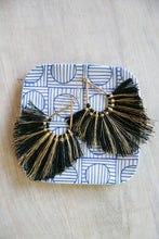 Load image into Gallery viewer, Lanai Fringe Tassel Statement Earrings Natural-Earrings-Hazel & Indigo