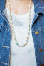Load image into Gallery viewer, Isle of Palms Wood & Stone Necklace-Necklace-Hazel & Indigo
