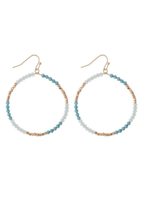 Santa Monica Beaded Earrings-Earrings-Hazel & Indigo
