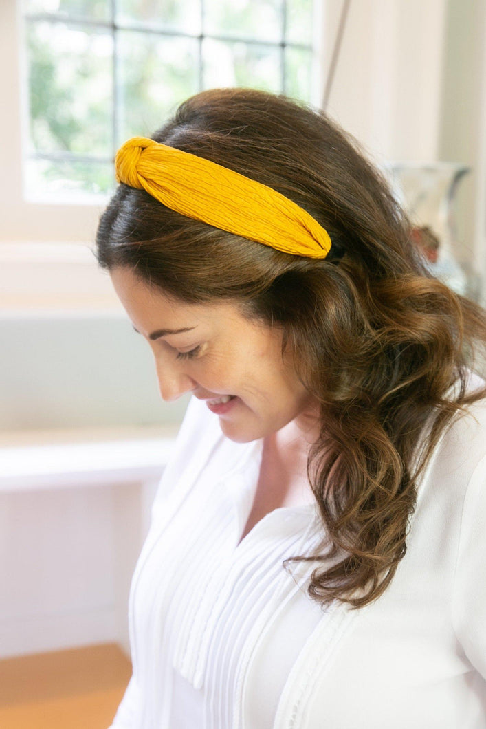 Knotted Mustard Headband-Hair Accessory-Hazel & Indigo