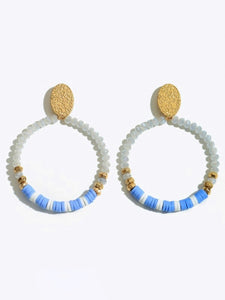 Beaded Drop Earrings-Earrings-Hazel & Indigo