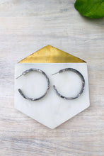 Load image into Gallery viewer, Isla Resin Hoops-Earrings-Hazel & Indigo