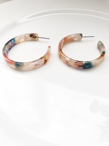 Isla Resin Hoops-Earrings-Hazel & Indigo