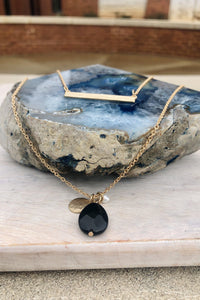 Luca Layered Necklace-Hazel & Indigo