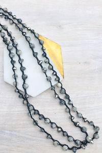 Malibu Long Strand Neklace-Necklace-Hazel & Indigo