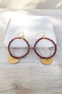 Marin Beaded Earrings-Earrings-Hazel & Indigo