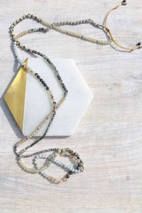 Martinique Long Necklace-Necklace-Hazel & Indigo