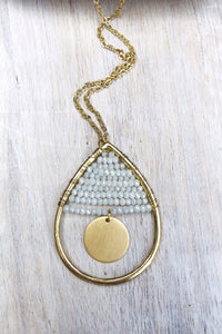 Santa Cruz Teardrop Pendant Necklace-Necklace-Hazel & Indigo