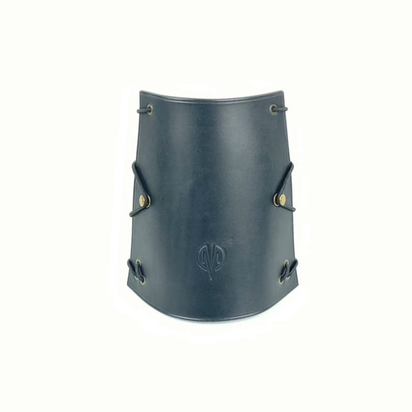 LEATHER ARM GUARD BLACK