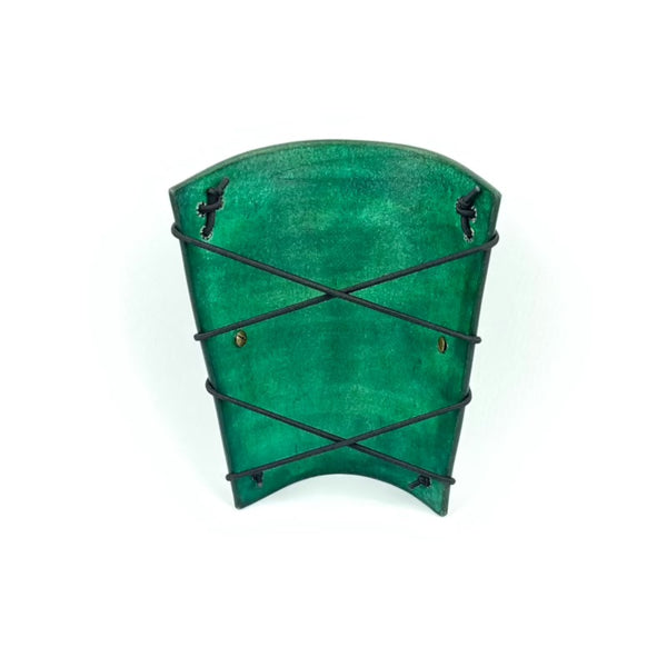 LEATHER ARM GUARD GREEN
