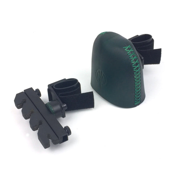 STRAP DOWN 2 PIECE GREEN 4 ARROW BOW QUIVER - marksman-quivers