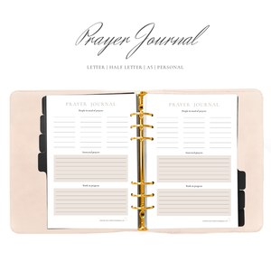 Prayer Journal Planner Insert