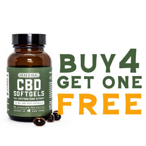 CBD Soft Gels - 60ct. / Buy 4 Get 1 Free
