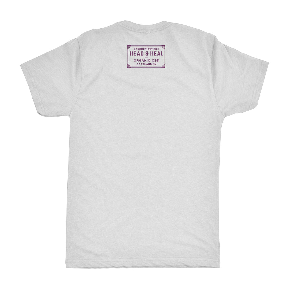 Head & Heal TShirt - Cement/Purple
