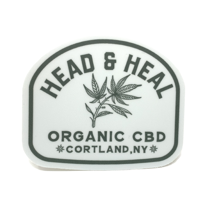 Head & Heal - Hemp Leaf Sticker