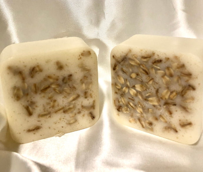 3 Butter, Oat Meal, Honey Goat Milk Soap with Cucumber one bar