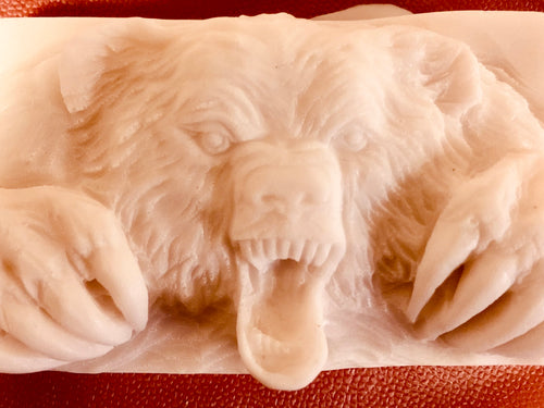 Bear soap with Sandalwood essential oil. 5 oz bar