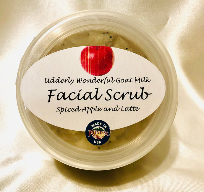 Udderly Wonderful Goat Milk Facial Scrub with spiced apple and latte