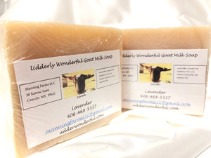 Lavender: Goat Milk Soap 4.8 oz bar