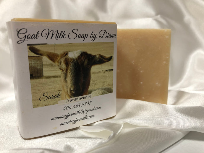 Frankincense: Goat Milk Soap 4.8 oz bar