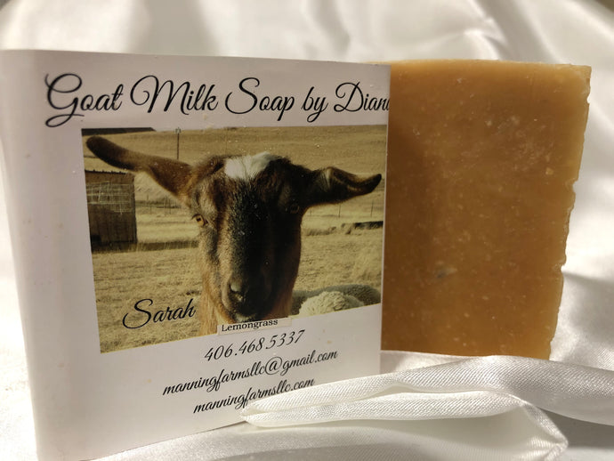 Lemongrass. Goat Milk Soap 4.8 oz bar