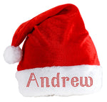 Personalised SANTA CLAUS Hat Crystal Christmas hat eve Party Xmas Festive gift By Varsany - varsanystore
