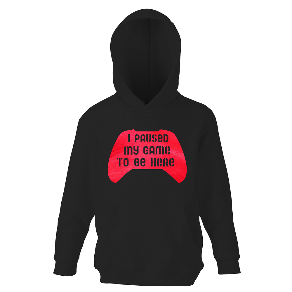 Personalised I Paused My Game To Be Here Boys Hoodie - varsanystore
