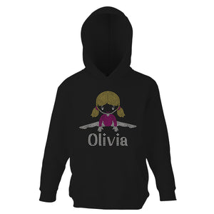 Personalised Girls Straddle Hoodie Sweatshirt - varsanystore