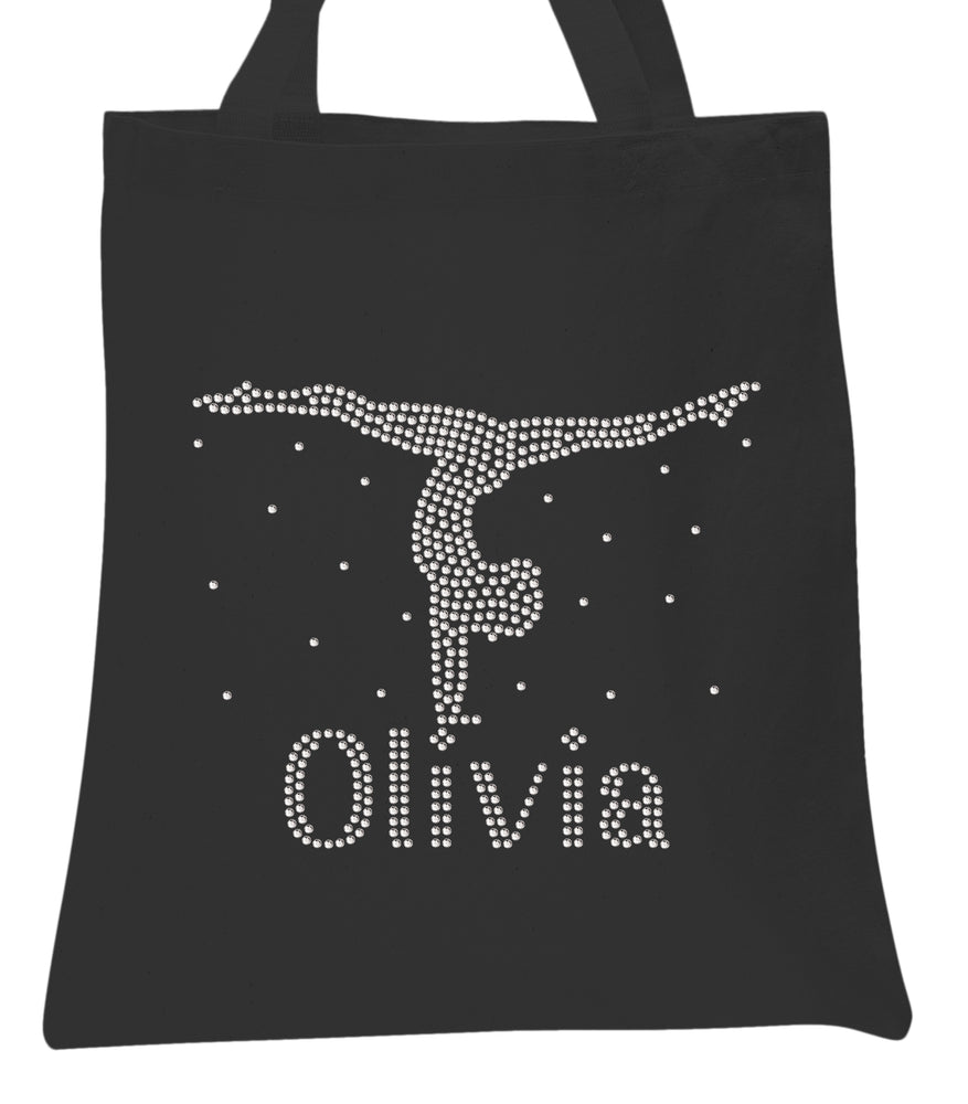 Girls Bag Hand Stand Crystal Personalised Gymnastics Tote Bag - varsanystore