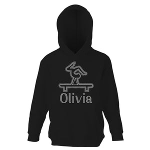 Personalised Girls Beam Diamante Hoodie - varsanystore