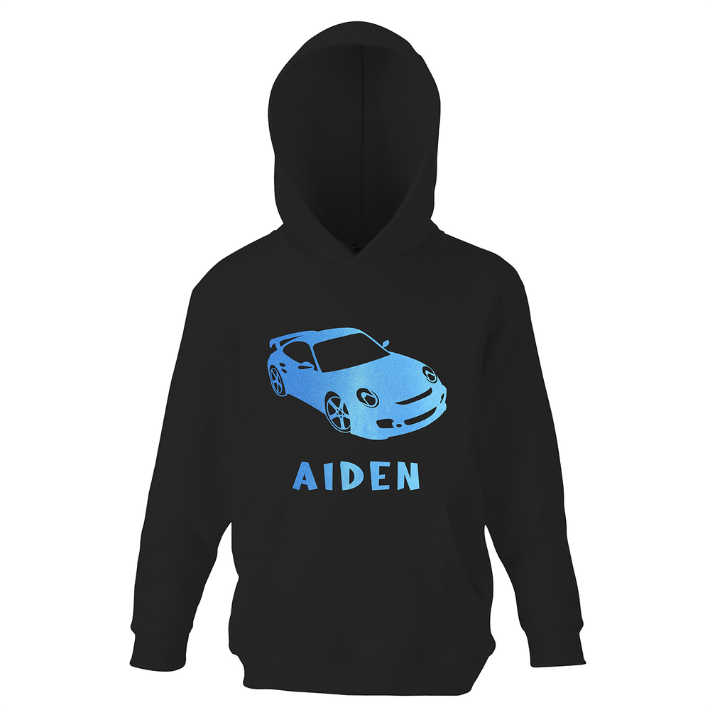 Personalised Boys Racing Car Hoodie