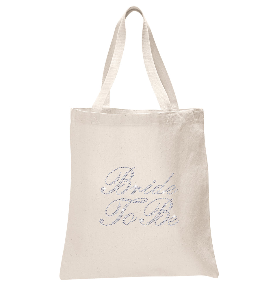 Crystals Bride To Be Wedding Tote Bag - varsanystore
