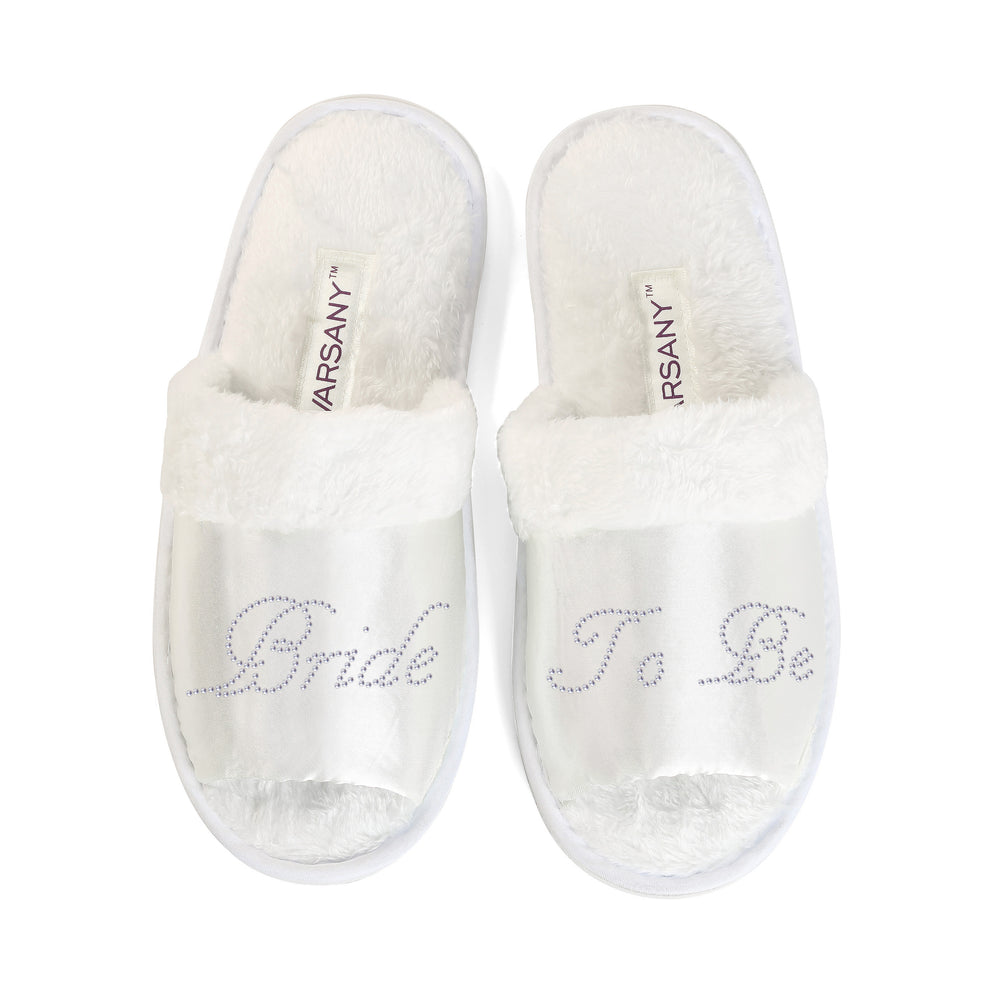 Crystals Bride To Be Party Spa OT Slippers - varsanystore
