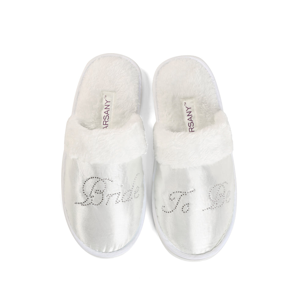 Crystals Bride To Be Spa Slippers - varsanystore