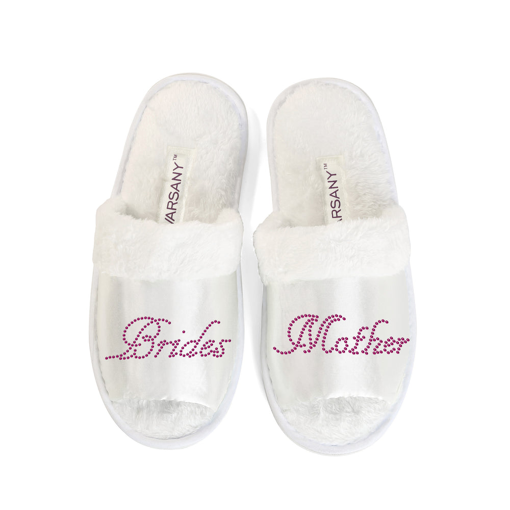 Crystals Brides Mother Party Spa OT Slippers - varsanystore