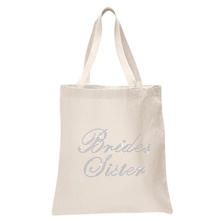 Crystals Brides Sister Wedding Tote Bag - varsanystore