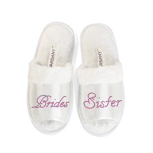 Crystals Brides Sister Party Spa OT Slippers - varsanystore