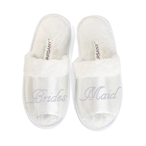 Crystals Bridesmaid Party Spa OT Slippers - varsanystore