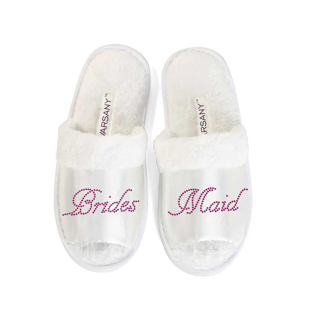 CrystalsRus New Bridesmaid Party Slippers Bride Bridesmaid Spa Hen Weekends Wedding Gift By Varsany (OT) - varsanystore