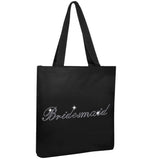 Crystals Bridesmaid Wedding Tote Bag - varsanystore