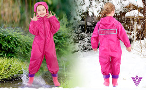 Personalised Girls Waterproof Rain Suit/Coat - varsanystore
