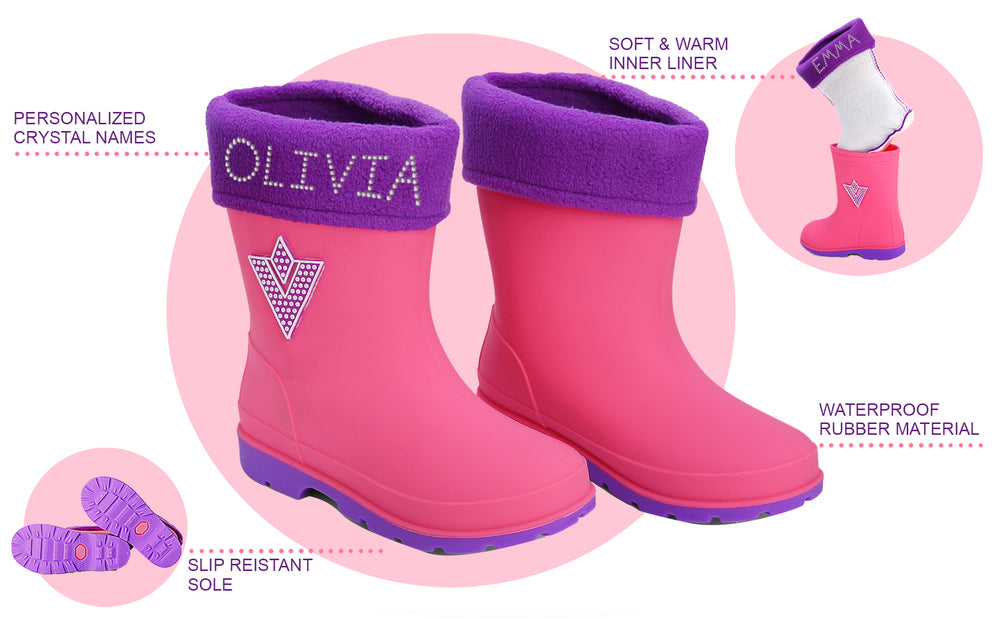 Personalised Girls Wellington Boots - varsanystore
