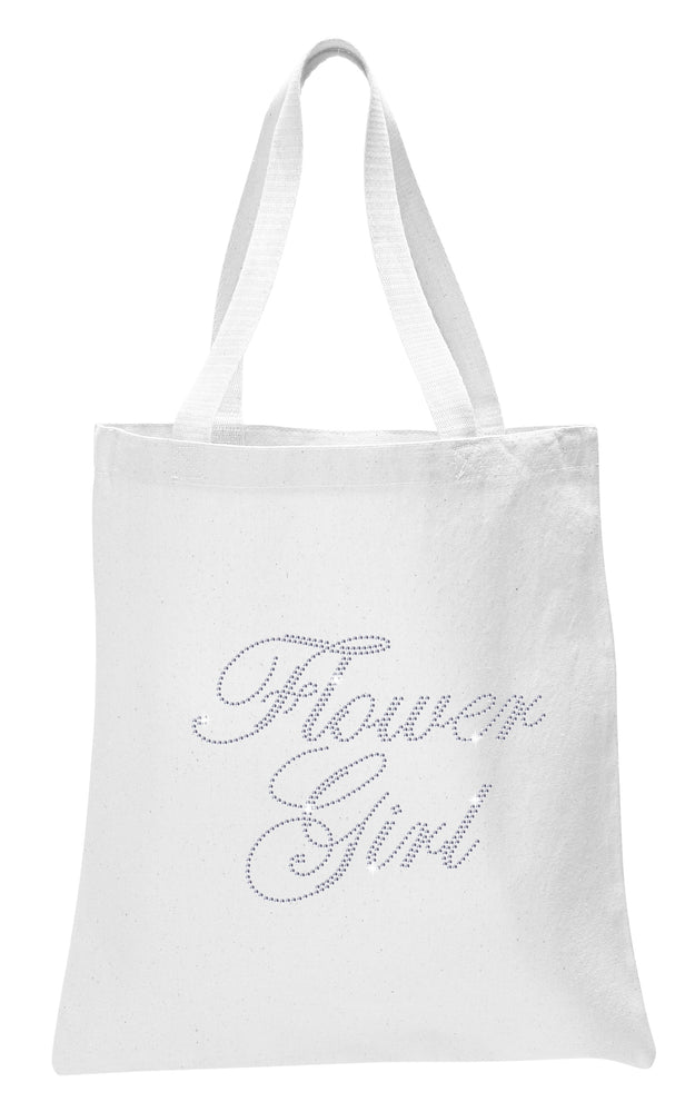 Crystals Flower Girl Wedding Tote Bag - varsanystore
